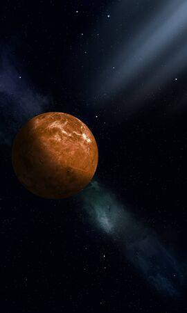 3d space illustration of solar system planet venus