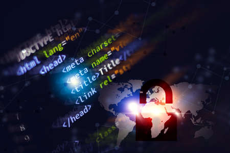 less compilation computer programming coding language for website technology background Stock fotó
