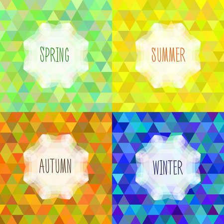Het thema van de vier seizoenen van het jaar