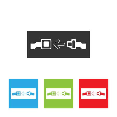 seatbelt: Seat belt icon. Seat belt icon isolated on white background.