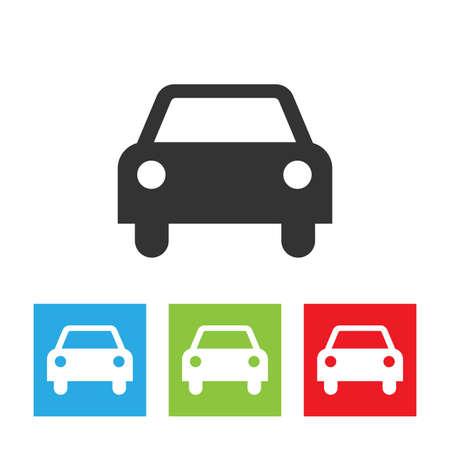 car isolated: Car icon. Shape of car isolated on white background. Illustration