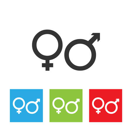 pornography: Genders icon. Illustration
