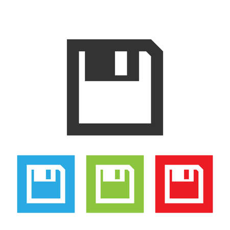 diskette: Diskette icon. Diskette picture isolated on white background. Illustration