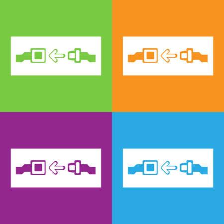 seat belt: Seat belt icon.