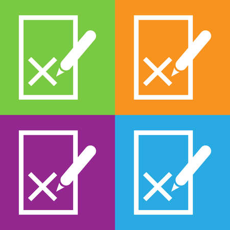 blacklist: Blacklist icon. Rejected symbol on the file with a pen. List with shadow.
