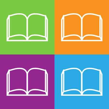 open book icon: Open book icon.