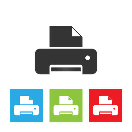 scaner: Printer icon. Printer flat isolated on a white background. Vector illustration.