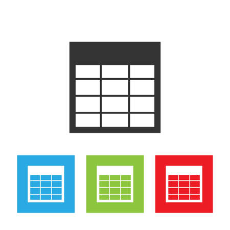 optimized: Spreadsheet icon. Professional, pixel perfect icons optimized for both large and small resolutions. Flat vector illustration.