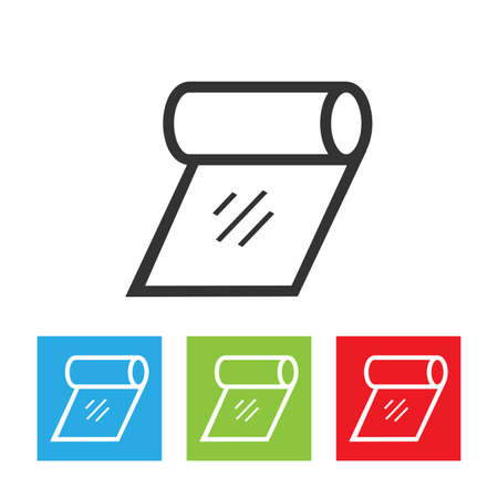 toilette: Tissue icon. Simple of tissue on white background. Flat vector illustration.