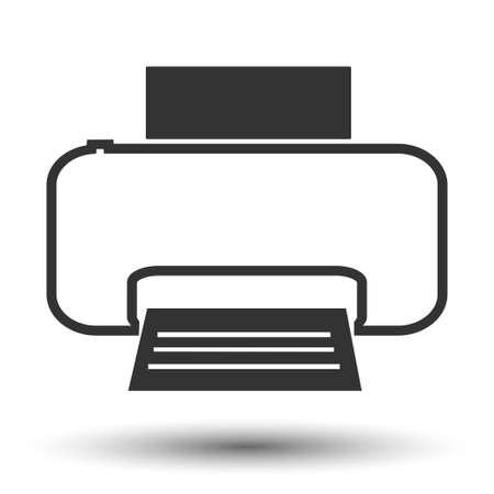 scaner: Printericon. Printer flat. Vector illustration. Illustration