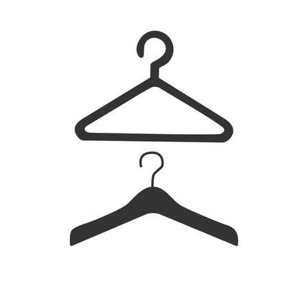 hangers: Hanger flat icon. Hangers. Hanger gear. Hanger symbol. Illustration