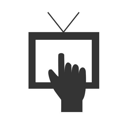 tv set: TV icon. Tv set. Picture of television.