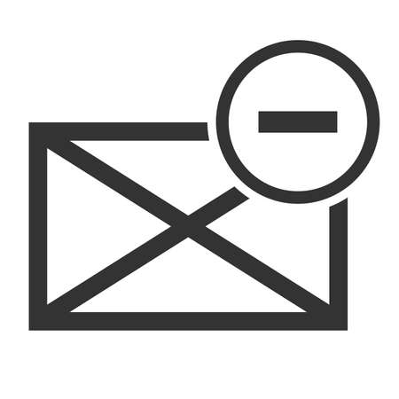 spam mail: Spam mail icon envelope. Picture of envelope with spam symbol. isolated on a white background. Vector illustration.