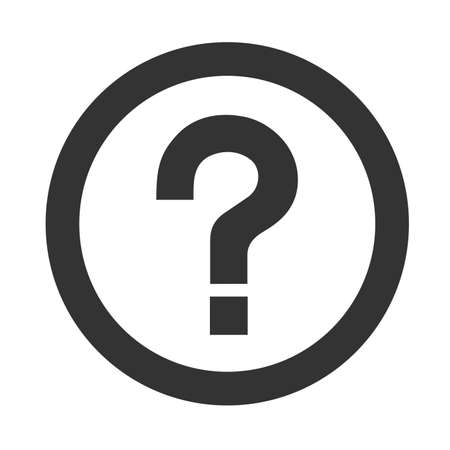 question mark icon: Question mark icon isolated on a white background. Vector illustration. Illustration
