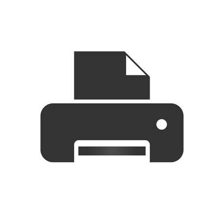scaner: Printer icon. Printer flat   isolated on a white background. Vector illustration. Illustration
