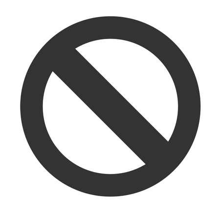interdiction: Interdiction Sign. Interdiction ic�ne isol� sur fond blanc. Vector illustration. Illustration