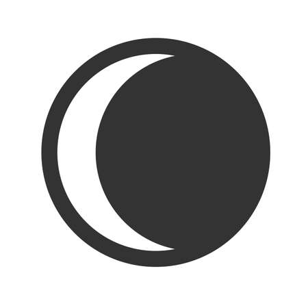 penumbra: Moon eclipse icon. Simple flat   of moon eclipse on white background. Vector illustration. Illustration