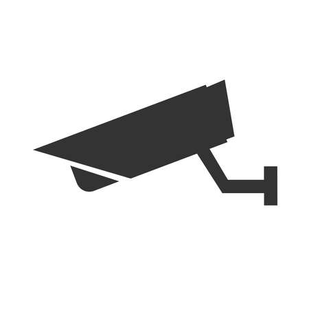 monitored area: Video surveillance icon. Simple flat   of video surveillance eclipse on white background. Vector illustration.