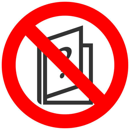 Forbidden sign with book and question icon isolated on white background. Reading faq is prohibited vector illustration. Reading is not allowed image. Books are banned. Illustration