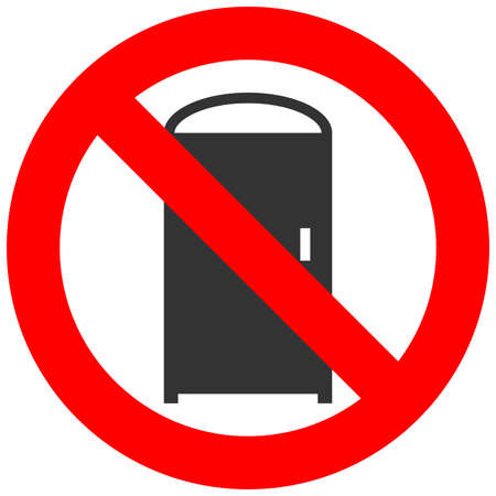 Forbidden sign with door icon isolated on white background. Entrance is prohibited vector illustration. Entrance is not allowed image. Doors are banned. Do not enter.