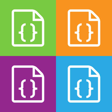 css: CSS icon. Simple logo of CSS file on white background. Flat vector illustration.