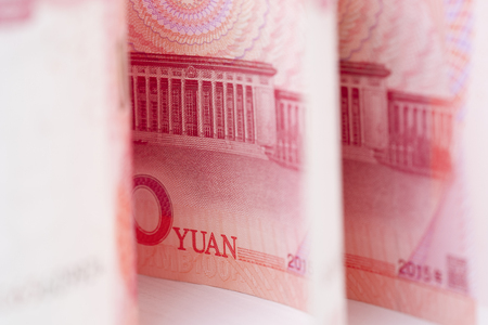 Closeup China Yuan banknote. Economy and exchange currency concept.-Image.