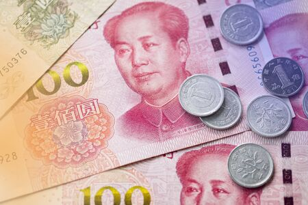Close up of Mao Tse tung of China Yuan banknote. Yuan is the main exchange currency in the world. 스톡 콘텐츠