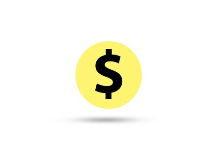 US dollar sign on white background. US dollar is main and popular currency of exchange in the world. Investment and saving concept. Фото со стока