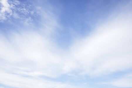 Beautiful white clouds with blue sky.Color shade gradient from white to blue for background wallpaper.