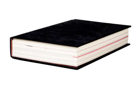 Isolated of black cover book on white background