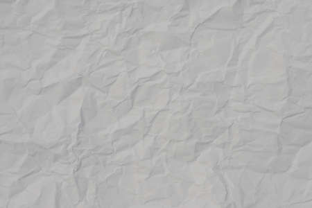 Closeup of white crumpled paper for texture background.