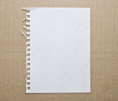 hoja en blanco: Papel en blanco nota de antecedentes sobre el cart�n Foto de archivo