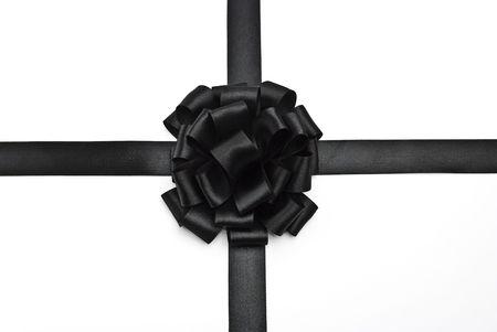 Black ribbon bow Stock Photo - 5541649