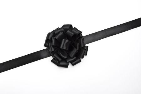 black ribbon bow: Black ribbon bow