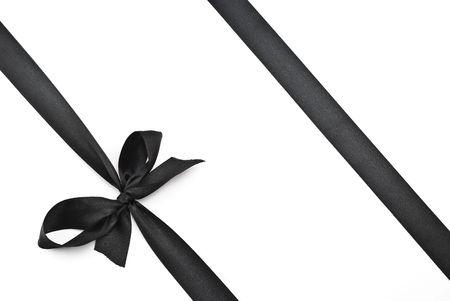Black bow with ribbon photo
