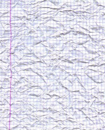 wrinkled paper: Gerimpeld vel papier Stockfoto