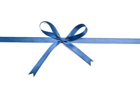 Blue ribbon and bow