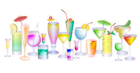 Set cocktails  Vector