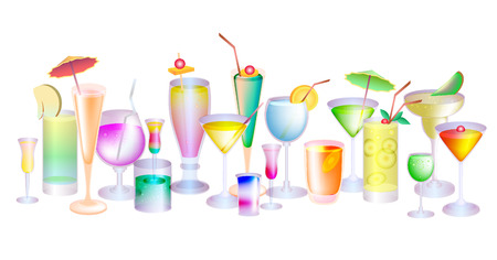 Set cocktails  Vector