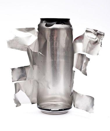 Torn aluminum can  Stock Photo - 7936126