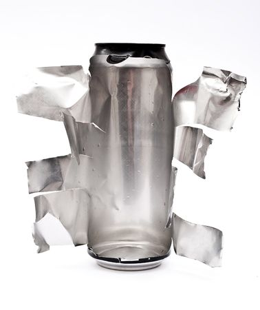 Torn aluminum can  photo