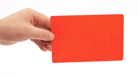 Hand holding a red card Stock Photo - 8331271