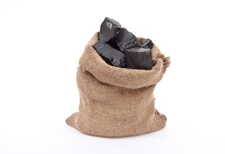 Coal in sack  Stock Photo - 8659467