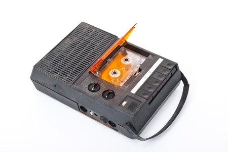 Magnetic audio tape cassette recorder photo