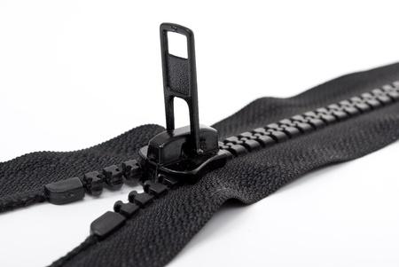 Black zipper  Stock Photo