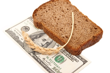 Dollar with slice bread  photo