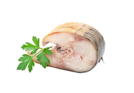 Mackerel sliced  photo