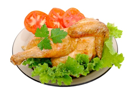 Grilled chicken with fresh vegetables  Stock Photo - 10413958