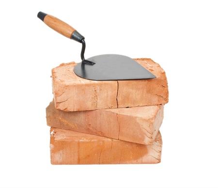 Trowel on bricks Stock Photo - 10677242