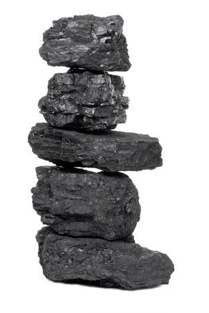 anthracite coal: Pile of coal Stock Photo